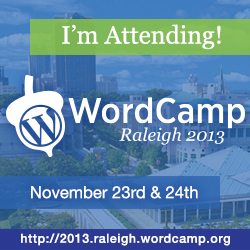 WordCamp Raleigh 2013 Attendee